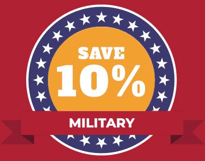 military savings HVAC 10%