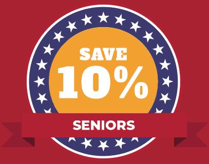 seniors savings HVAC 10%
