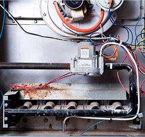inside of furnace
